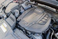 De Motor van Audi Q5 2017 Royalty-vrije Stock Afbeeldingen