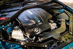De Motor van BMW M2 2016 Stock Afbeelding