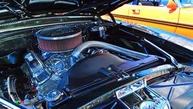 De motor van Chevrolet Camero SS in een Openbare sho van de de spierauto van de V.S. klassieke Royalty-vrije Stock Fotografie