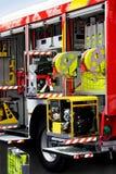 De motor van de brand pakt uit Stock Fotografie