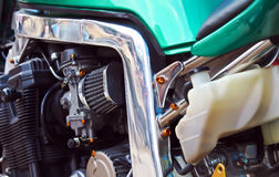 De motor van de fiets Stock Foto's