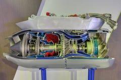 De motor van de gasturbine Stock Fotografie