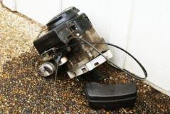 De Motor van de Grasmaaimachine stock afbeelding
