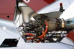 De motor van de helikopter Stock Foto's