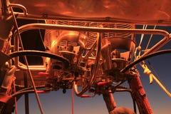 De motor van de hete Luchtballon Stock Afbeelding