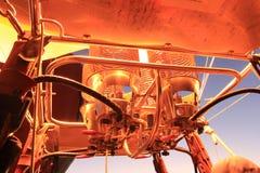 De motor van de hete Luchtballon Stock Afbeeldingen