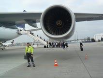 De motor van de luchtbus A340 stock foto's