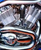 De motor van de motorfiets   Stock Foto's