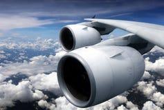 De motor van de vliegtuigturbine van venstermening royalty-vrije stock afbeeldingen