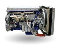 De motor van de vrachtwagen Stock Afbeeldingen