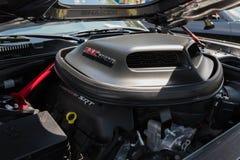 De motor van Dodge Eiser SRT op vertoning Royalty-vrije Stock Afbeelding