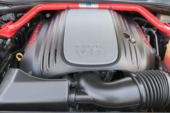 De motor van Dodge Eiser SRT op vertoning Royalty-vrije Stock Fotografie