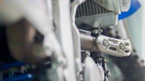 De motor van enduromotorfiets, sluit omhoog stock fotografie