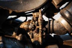 De motor van het carburatorenstilleven Stock Foto's