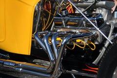 De motor van het chroom Stock Afbeeldingen