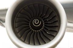 De motor van het luchtbusa380 vliegtuig Stock Foto's