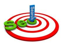 De motor van het onderzoek marketing doel stock illustratie