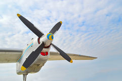 De motor van het vliegtuig royalty-vrije stock foto