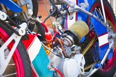 De motor van de motorfiets voor Speedwaybaan royalty-vrije stock afbeeldingen