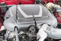 De motor 1967 van Pontiac Firebird op vertoning Royalty-vrije Stock Fotografie