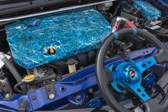 De motor 2015 van Toyota Corolla S op vertoning Stock Fotografie