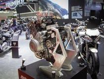 De motor van Triumph Moto2 765 royalty-vrije stock fotografie