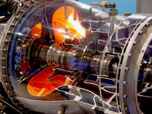 De motor van vliegtuig Stock Foto's