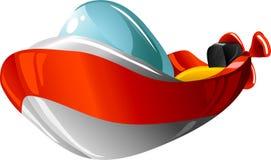 De motorboot van het beeldverhaal royalty-vrije illustratie