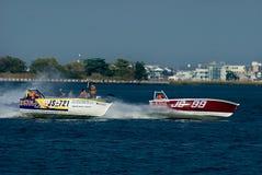 De Motorboten van de Klasse van de skiff. royalty-vrije stock fotografie