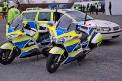 De Motoren van de politie Stock Foto's