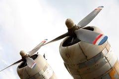 De Motoren van het vliegtuig Stock Fotografie