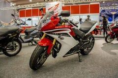 De motorfiets toont 2012 - Brazilië - São Paulo Stock Foto