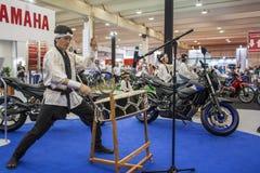 De motorfiets toont 2012 - Brazilië - São Paulo Stock Foto's