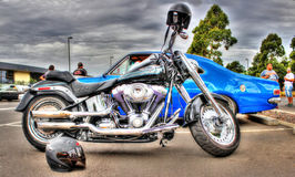 De motorfiets van Davidson van Harley royalty-vrije stock afbeeldingen