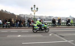 De motorfiets van de politie Stock Afbeeldingen