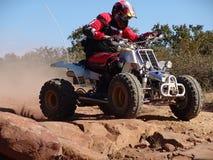 De motorfiets van de vierling het rennen Royalty-vrije Stock Foto's