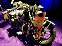 De motorfiets van de kapiteinsAmerica ` s Wereldoorlog II van Kapitein America: De Eerste Wreker stock foto