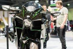 De motorfiets van Kawasaki Ninja H2 2015 Stock Fotografie