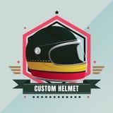 De motorfietsembleem van de douanehelm royalty-vrije stock foto