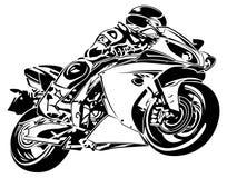 De motorfietsen lopen bij snelheid vector illustratie