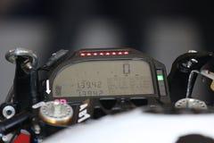 De motorfietsen van de de cockpitvertoning van BMW S1000 rr Stock Afbeeldingen