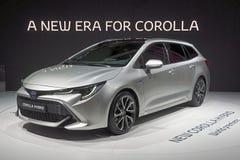 De Motorshow 2018 van Parijs - Toyota Corolla-Hybride royalty-vrije stock foto