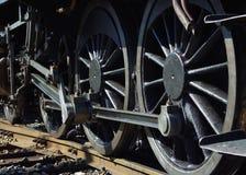 De motorwielen van de stoom Stock Foto
