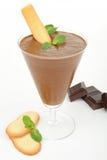 De mousse van de chocolade Stock Afbeeldingen