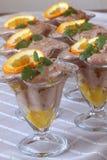 De mousse van de chocolade met sinaasappelen Royalty-vrije Stock Fotografie