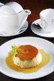 De mousse van de karamel Royalty-vrije Stock Afbeelding