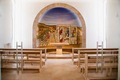 De Mozaïekdochter van jariuskapel, Magdala, Israël stock afbeeldingen