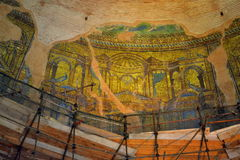 De mozaïeken Thessaloniki van de kerkkoepel stock afbeelding