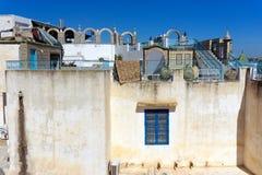 De mozaïeken verfraaien Terras in Tunis, Tunesië stock fotografie