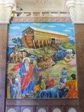 De mozaic muurschildering van NaOH binnen st Mina Cathedral in Egypte royalty-vrije stock afbeeldingen